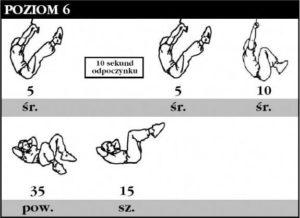trening abs poziom 6