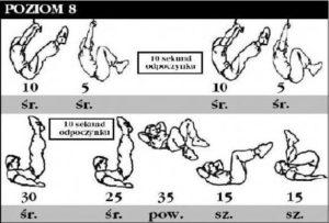 trening abs poziom 8