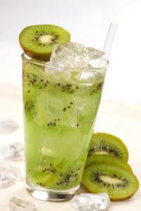 napój kiwi szklanka lód