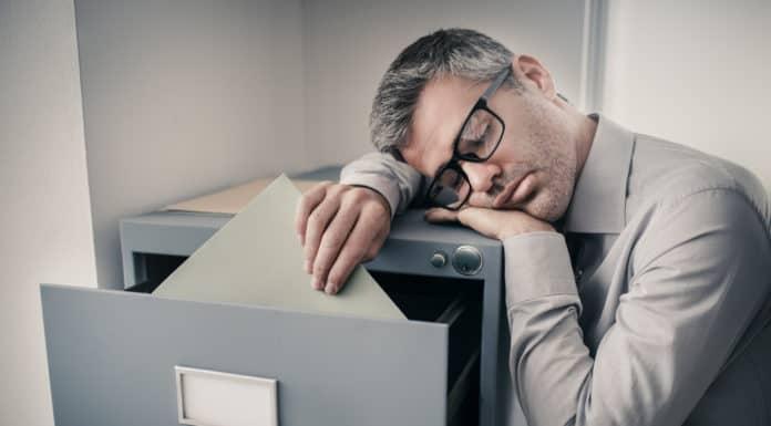 sen w pracy