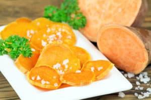 pieczone słodkie ziemniaki