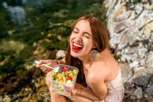 dziewczyna zdrowe odżywianie