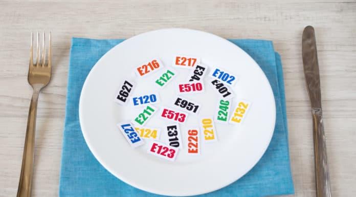 talerz, symbole dodatków do żywności