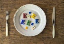 talerz, dodatki do żywności E