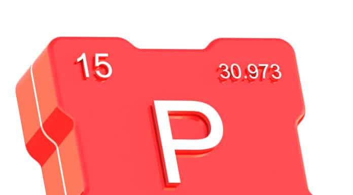 fosfor P infografika