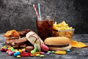 słodycze, fast-food