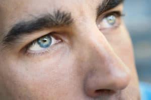 niebieskie oczy, dobry wzrok
