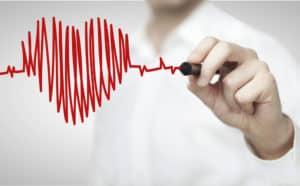 czerwone serce, rysunek, mężczyzna